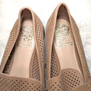 Vince Camuto Shoes - Vince Camuto Kanta Light Brown Perforated Loafers